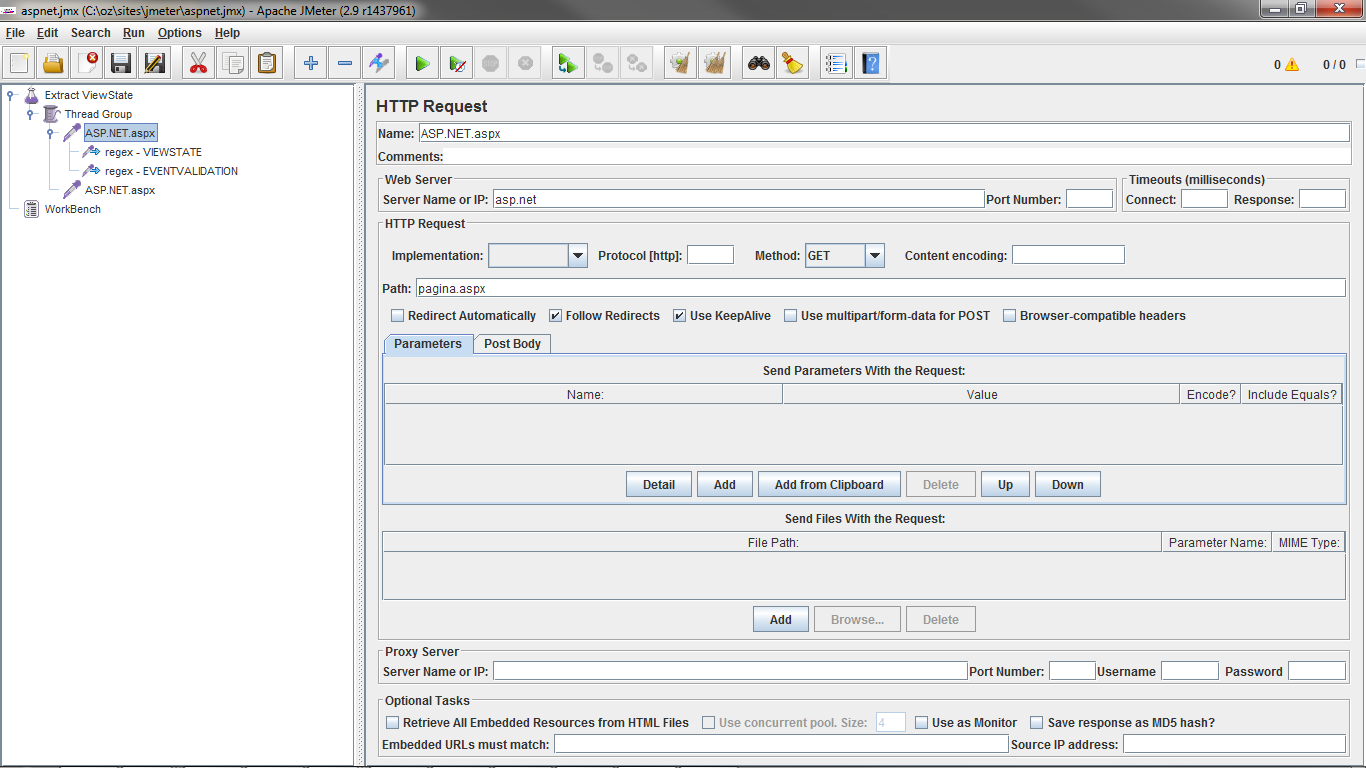 Componente Regular Expression Extractor